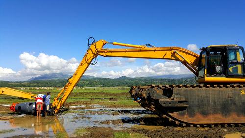Amphibious Excavator Dredging Suctiom Pumps