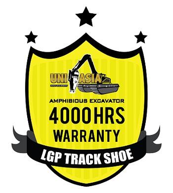 amphibious excavator warranty